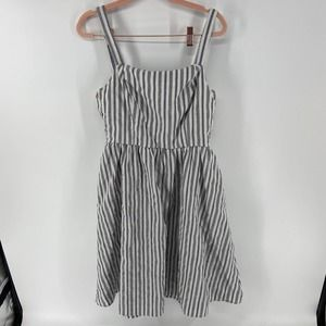 Mello Day Striped Fit and Flare Tank Dress